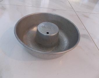 """Mid Century Aluminum 'Jello"""" Mold, Circa 1950s, Rare, Retro"""