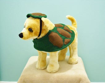 Pet Costume Turtle Small Halloween Costume Made to Order Free Shipping