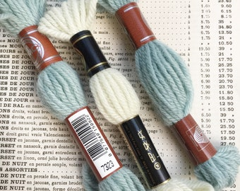 Vintage French DMC yarn . Vintage french wool for embroidery , needlework , scrapbooking and crochet . Vintage yarn