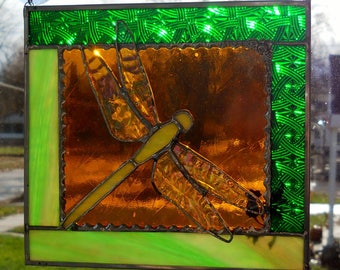 Dragonfly in Amber Layered Panel