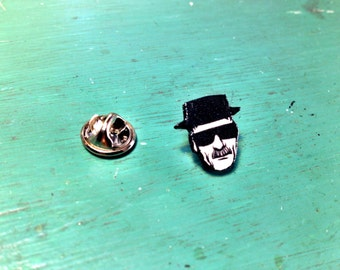 Breaking Bad Heisenberg Pin Button cartoon illustration Walter White Jessie Pinkman