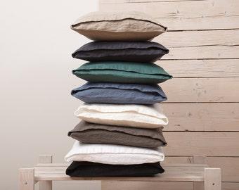 Linen DECORATIVE PILLOW CASE - Linen Cushion Covers - Linen Home Decor - Natural Linen Cushion Cover - Wedding gift