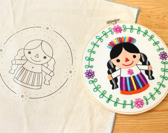 """Embroidery pattern """"Mexican Rag Doll"""""""