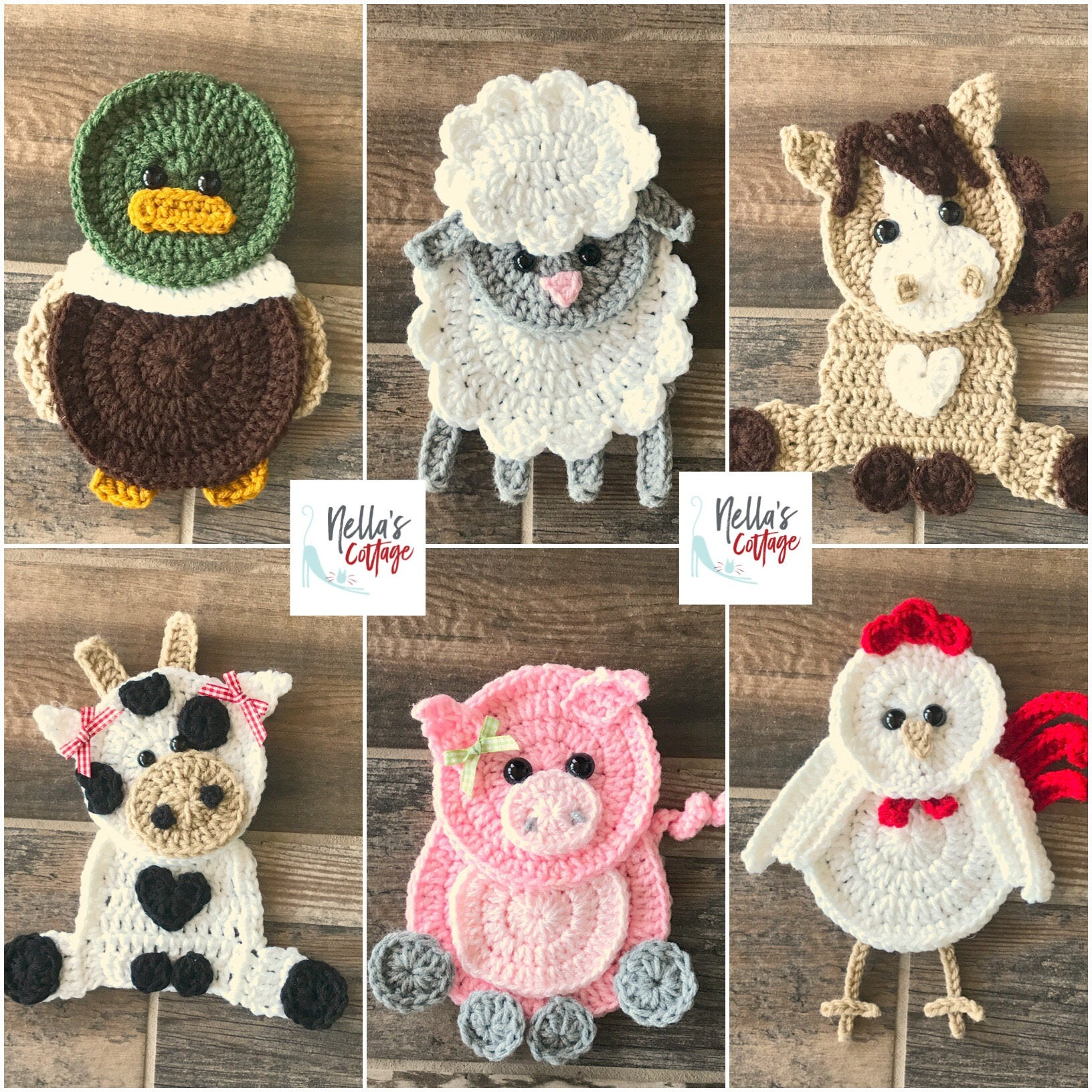 Crochet Pattern Farm Animal Patterns Instant Pdf
