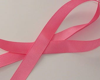 1 meter Ribbon satin grosgrain 16mm wide pink dark