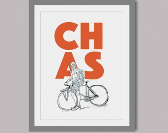CHAS - Limited Edition Screen print cycling themed