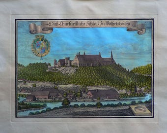 Germany/Austria ? - Cm. 59 x 39 Inches 23,2 x 15,4 - Water-coloured by hand. Since 1930s