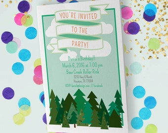 Woodland Party Theme // Customizable Invitation // Downloadable + Printable