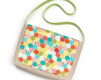 Small Child's Fabric Messenger Bag Little Girl Fabric Satchel Bag for Toddler