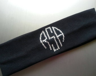 Customize your headband with monogram letters