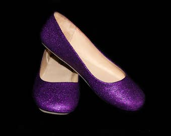 Wedding shoes Amethyst Purple wedding shoes Purple shoes purple flats purple flat shoes bridal shoes purple shoes custom shoes glitter shoes