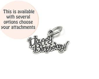 Happy birthday charm Etsy
