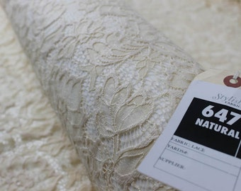 Natural Beauty Coleen Pattern Floral Stretch Lace Fabric by Yard - Style 647