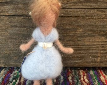 Pearl Flower Fairy. Wool felted fairy. Needle felting. Waldorf inspired.