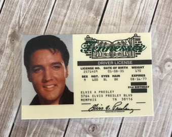 Elvis Presley, Drivers License, Tennessee License, Elvis License, Gag Gift, Elvis Fan, Elvis Party Favor