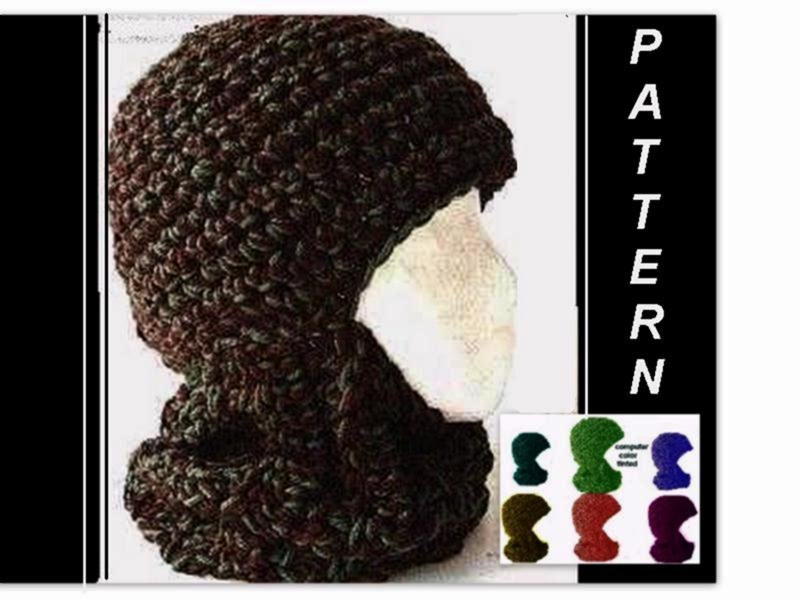 Crochet Hat Pattern Crochet Ski Mask Balaclava Ski Hat