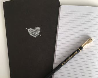 Notebook 'knitted heart' A5 (15x21 cm)