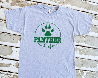 Youth Panther Life Shirt - School Spirit - Panthers - Heather Gray Youth T-Shirt