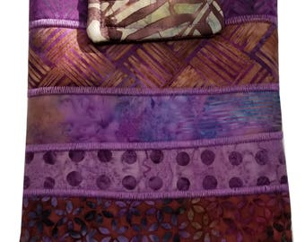 Nook or Kindle Fire Ipad Mini Sleeve in Purple Batik Fabrics