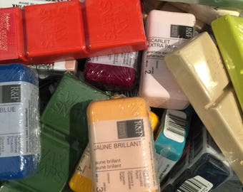 ENCAUSTIC, wax painting SUPPLIES, You Pick Colors, mix and match, beeswax art, encaustic beeswax paint, Enkaustikos, Hot Sticks, Wax Snaps
