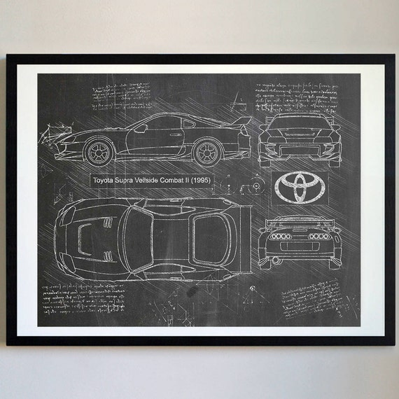 Toyota supra veilside com ii 1995 toyota artwork blueprint toyota supra veilside com ii 1995 toyota artwork blueprint specs blueprint patent prints posters supra decor art car art cars 228 malvernweather Gallery