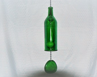 Green Scotch Whiskey Bottle Wind Chime