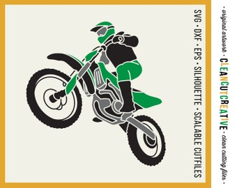 SVG Motocross file svg dirt bike svg file motorcross dirtbike motor cross svg file shirt design - dxf eps png Cricut Silhouette cutting file