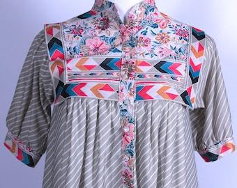 Monica Richards of California Tent Dress Loose Fitting Light Weight Fabric