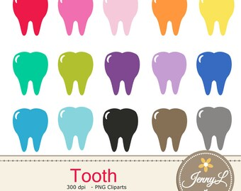 Tooth Clipart for Planners, Digital Scrapbooking, Invitations, cupcake toppers, Stickers, Labels