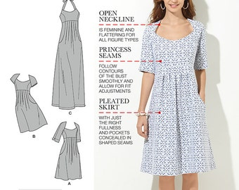 Simplicity Pattern 1800 Misses'/ Women's Dress in Two Lengths