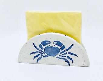 Napkin Holder. Crab Napkin Holder. Handmade By Sara Hunter