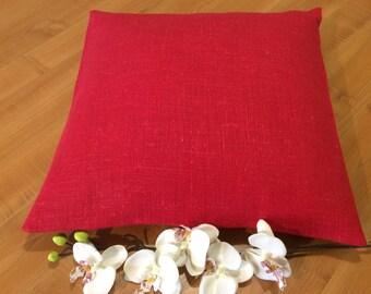 Burlap pillows Christmas pillows Farmhouse pillows Custom linen pillows Custom size pillows Ticking pillows Red burlap pillow case Handmade