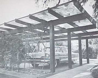 1960s MID CENTURY MODERN Carports and Garages design book
