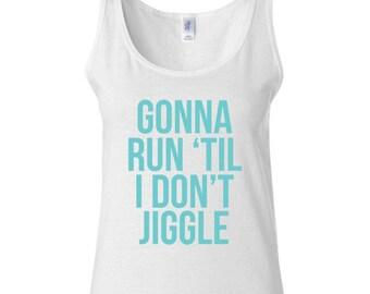 Running Tank - Running Shirt - Running Gift - Gift For Runner - Funny Running Top - Exercise Top - Cute Tank - Wedding Fitness Top