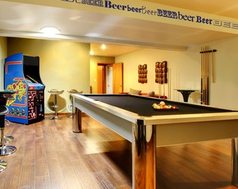 Perfect for your Man Cave, Pool Room or Den - Decorative Vinyl Beer Border - by Katazoom Vinyl Wall Decals