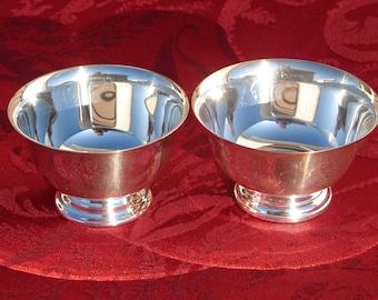 Paul Revere Bowls, Liberty Bowls Reproductions, Paul Revere Reproduction, Silver Footed Bowls, F.B. ROGERS Co., Silverplate Hollowware