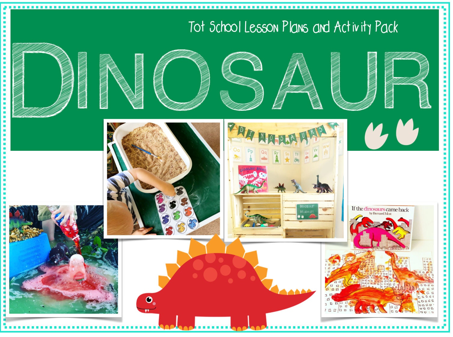 Tot School: Dinosaur Lesson Plans and Activity Pack