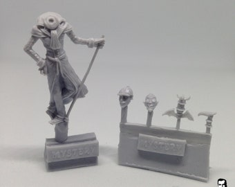 Sherlock/ Vampire commentator blood bowl, fantasy football miniatures with different heads