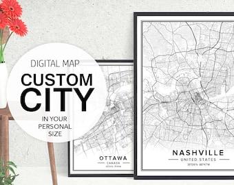 custom city map custom map art custom map print city map print city map art map download maps of cities city posters pdf prints