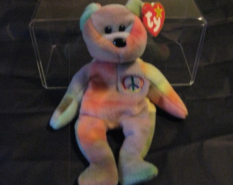 TY Beany Baby-Peace Very Rare Retired with Tag Errors