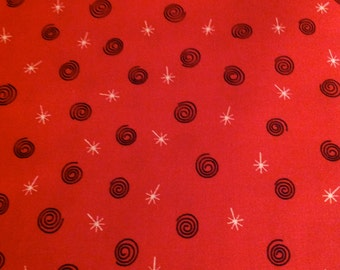 Peppermint Twist, by Dana Brooks, for Henry Glass, Red Fabric, Christmas Fabric,  Fabric By The Yard, OOP