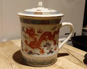 Dragon Tea Mug with Steeping Lid