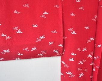 Silk haori kimono jacket/red vintage kimono cardigan top/japanese womens short kimono robe/boho bohemian robe/gift for her