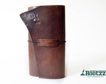 RG XL Traveler's notebook vintage red  brown leather- midori like- fauxdori