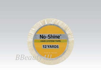 """Walker No Shine 1/2 """"x 12 Yards ( Double Sided ) Tape Roll for Skin Weft, Hair Extensions, Toupee."""