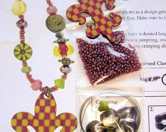 TART Necklace  Kit from Glass Garden Beads - No Longer Produced