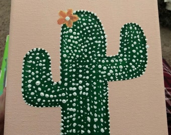 The prickliest - cactus painting