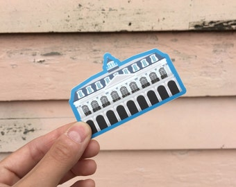 The Cabildo Vinyl Sticker, Building French Quarter Jackson Square Architecture New Orleans Louisiana Local Museum Preservation