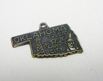 Vintage Oklahoma Charm for Bracelet marked Japan