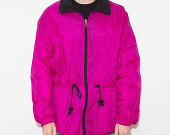 Women's Jacket, Rain Jacket, Wind Jacket, Windbreaker, Sport Jacket, 90s Windbreaker, Windbreaker Jacket, Nylon Jacket, Drawstring Waist